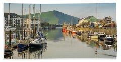 Aberystwyth Marina At Daybreak Bath Towel