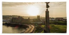 Aberystwyth War Memorial At Dawn Hand Towel