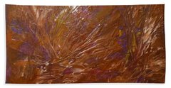 Abstract Brown Feathers Bath Towel