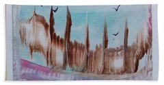 Abstract Castles Hand Towel