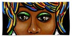 Abstract Glo - Black Woman Retro Pop Art - Ai P. Nilson Bath Towel