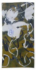 Bath Towel featuring the drawing Abstract Human Figure by AJ Brown