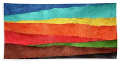 Abstract Landscape Created With Handmade Paper Hand Towel