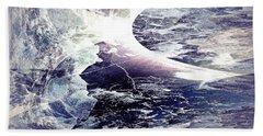 Abstract Ocean Enigma Bath Towel