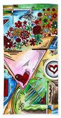 Abstract Pop Art Face Art Original Empowered Painting By Megan Duncanson Hand Towel