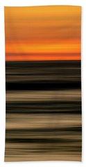 Abstract Sunset Bath Towel