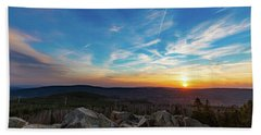Bath Towel featuring the photograph Achtermann Sunset, Harz by Andreas Levi