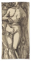 Adam And Eve, 1519 By Grien Hand Towel