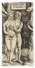 Adam And Eve By Hans Baldung Grien Hand Towel