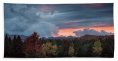 Adirondack Loj Road Sunset Hand Towel