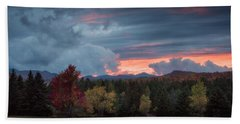 Adirondack Loj Road Sunset Bath Towel
