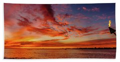 After Sunset Colors At Kailua Bay Hand Towel