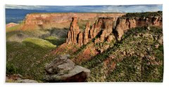 After The Storm Light On Colorado National Monument Bath Towel