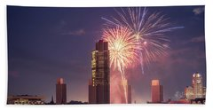 Albany Fireworks 2019 Bath Towel