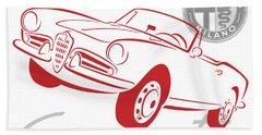 Alfa Giulietta Spider-1 Bath Towel