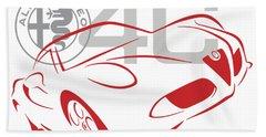 Alfa Romeo 4c-1 Bath Towel