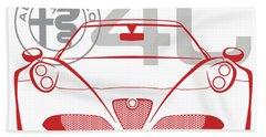 Alfa Romeo 4c-2 Bath Towel