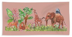 All Is Well In The Jungle Bath Towel