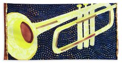 All That Jazz Trumpet Hand Towel