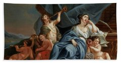 Allegory Of Music And Theater Hand Towel