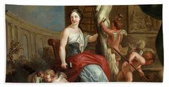 Allegory Of Sculpture And Architecture Hand Towel