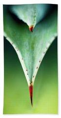 Aloe Thorn And Leaf Macro Hand Towel