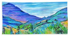 Along The Blue Basin Scenic Highway Hand Towel