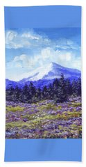 Alpine Meadow Sketch Hand Towel
