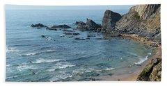 Amalia Beach From Cliffs Hand Towel