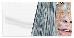Amber Rose - Woman Abstract Art Hand Towel