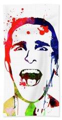 American Psycho Watercolor Bath Towel