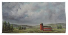 American Scene Red Barn  Hand Towel