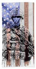 American Soldier Hand Towel