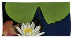American Water Lily-square Hand Towel