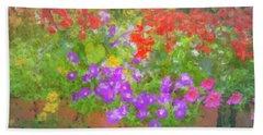 Americana Flower Planters Bath Towel