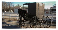 Amish Transportation Bath Towel