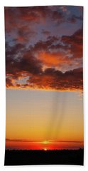 An Oklahoma Sunsrise Bath Towel
