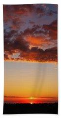 An Oklahoma Sunsrise Bath Towel