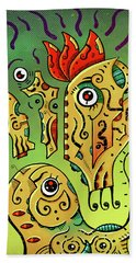 Bath Towel featuring the digital art Ancient Spirit by Sotuland Art