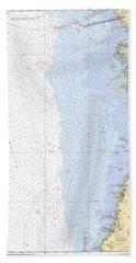 Anclote Keys To Crystal River Noaa Nautical Chart 11409 Bath Towel