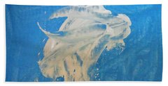 Angel And Dolphin Riding The Waves Bath Towel