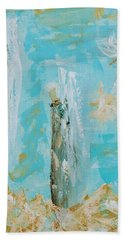 Angels Appear On Golden Clouds Bath Towel