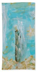 Angels Appear On Golden Clouds Hand Towel