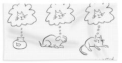 Animal Thoughts Bath Towel