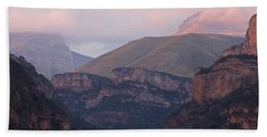 Bath Towel featuring the photograph Anisclo Canyon Sunset by Stephen Taylor