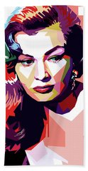 Anita Ekberg Pop Art Bath Towel