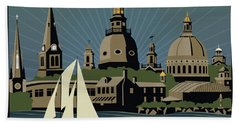 Annapolis Steeples And Cupolas Serenity With Border Hand Towel
