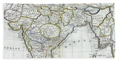 Antique Map Of India   Hand Towel