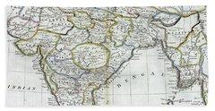 Antique Map Of India   Bath Towel
