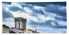 Bath Towel featuring the photograph Apartment Buildings In Ourense by Eduardo Accorinti